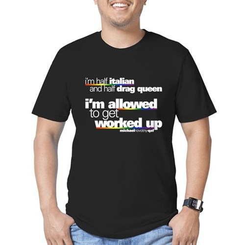 I'm Allowed to Get Worked Up Men's Dark Fitted T-Shirt