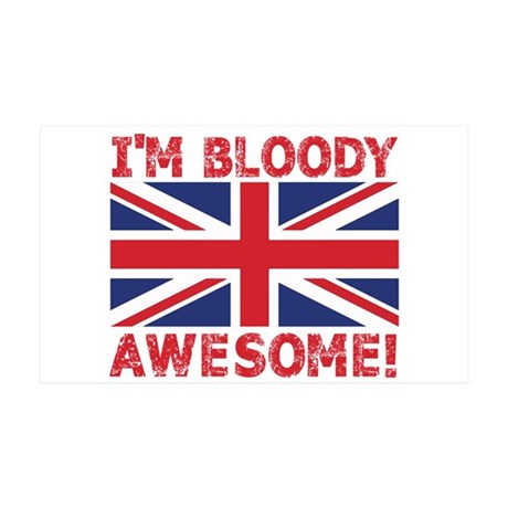 I'm Bloody Awesome! Union Jack Flag Wall Decal