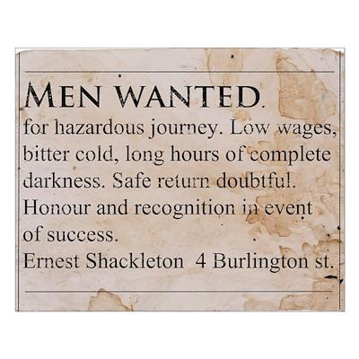 Shackleton Antarctica - Small Poster