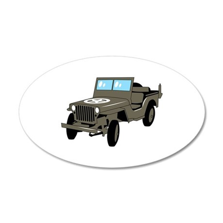 WWII Army Jeep Wall Decal