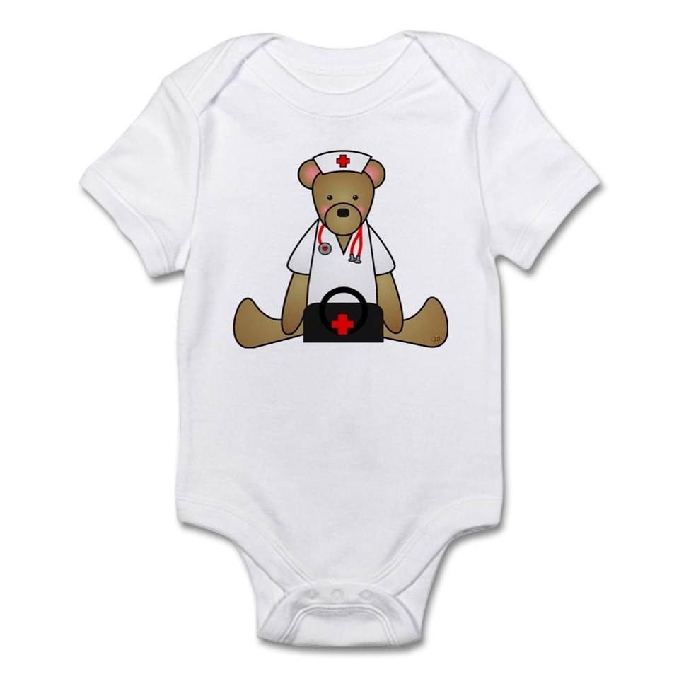 911 Gifts  911 Baby Clothing  Teddy Bear Medical Infant Bodysuit