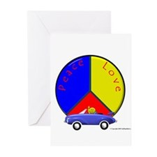 'Peace Smiley' Greeting Cards (Pk of 10)