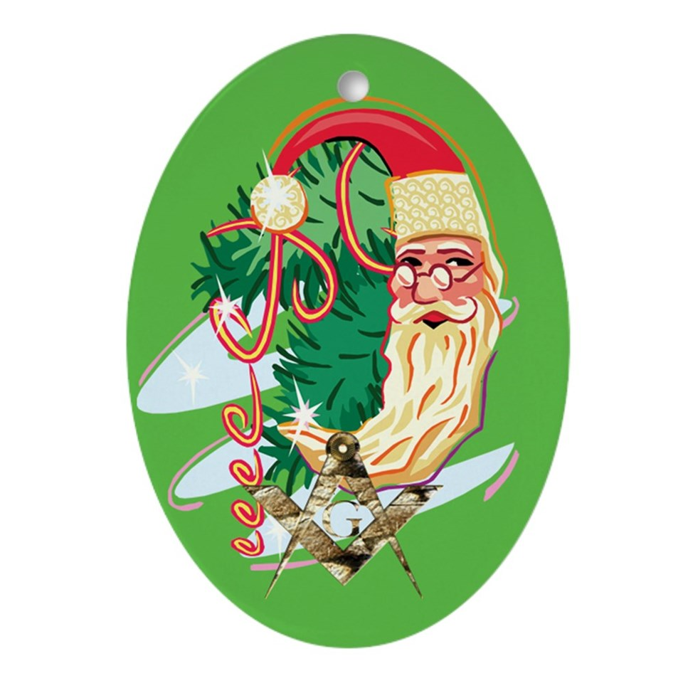 santa collectible ornament oval $ 9 99 qty availability product number