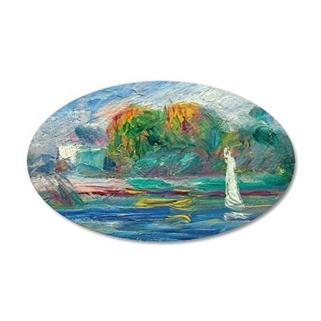 The Blue River by Auguste Renoir Wall Decal
