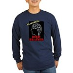 Diagnosis: Bird-Brained Long Sleeve Dark T-Shirt