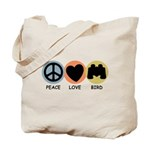 Peace Love Bird Tote Bag
