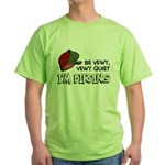 Be Vewy Quiet I'm Birding Green T-Shirt