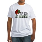 Be Vewy Quiet I'm Birding Fitted T-Shirt