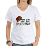 Be Vewy Quiet I'm Birding Women's V-Neck T-Shirt