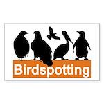 Birdspotting Rectangle Sticker
