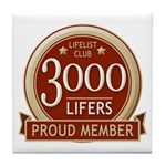 Lifelist Club - 3000 Tile Coaster