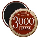 Lifelist Club - 3000 Magnet