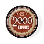 Lifelist Club - 2000 Wall Clock
