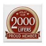 Lifelist Club - 2000 Tile Coaster