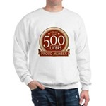 Lifelist Club - 500 Sweatshirt