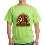 Lifelist Club - 500 Green T-Shirt