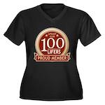 Lifelist Club - 100 Women's Plus Size V-Neck Tee