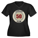 Lifelist Club - 50 Women's Plus Size V-Neck Tee