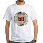 Lifelist Club - 50 White T-Shirt