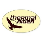 Thermal Rider Oval Sticker