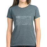 Birding Tag Cloud Women's Dark T-Shirt