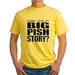 Big Pish Story Yellow T-Shirt