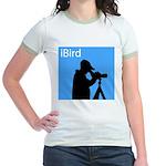 iBird (blue) Jr. Ringer T-Shirt