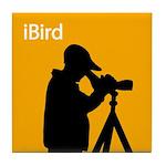iBird (orange) Tile Coaster