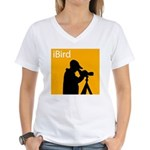 iBird (orange) Women's V-Neck T-Shirt