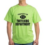 Property of Twitching Department Green T-Shirt