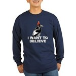 IBWO: Want to Believe Long Sleeve Dark T-Shirt