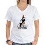 IBWO: Want to Believe Women's V-Neck T-Shirt