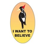 Simple IBWO: Want to Believe Oval Sticker