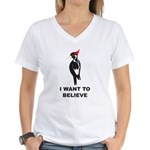 I Want to Believe Women's V-Neck T-Shirt