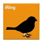 iRing (orange) Tile Coaster