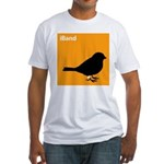 iBand (orange) Fitted T-Shirt