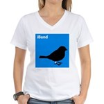 iBand (blue) Women's V-Neck T-Shirt
