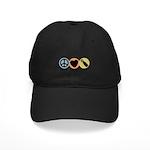 Peace Love Pish Black Cap
