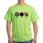 Peace Love Pish Green T-Shirt