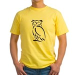 Stylized Owl Yellow T-Shirt