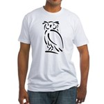 Stylized Owl Fitted T-Shirt