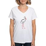 Stylized Stork Women's V-Neck T-Shirt