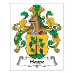 Hoppe Family Crest Small Poster