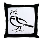 Stylized Lark Throw Pillow