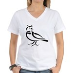 Stylized Lark Women's V-Neck T-Shirt