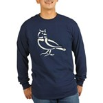 Stylized Lark Long Sleeve Dark T-Shirt