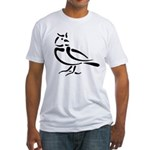 Stylized Lark Fitted T-Shirt