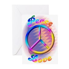 60'S Love & Peace Sign Greeting Cards (Package of