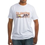 Beach Fire Island Pines Fitted T-Shirt