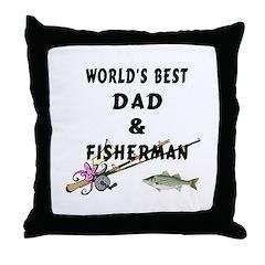 World's Best Dad Throw Pillow